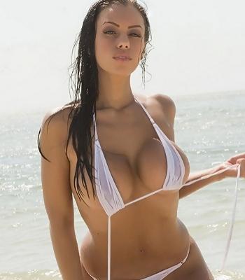 White Bikini Strip